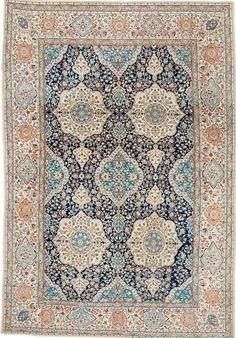 Persian Nain part silk rug