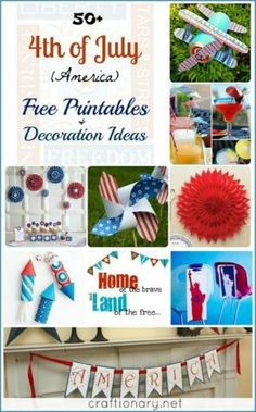 4th of July free printable ideas #printables #july4th by myra