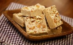 Coconut almond fudge - super duper healthy. Good way to get your raw coconut oil.