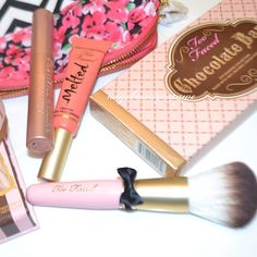 I already have the chocolate bar palette, but too faced products are super cute!!