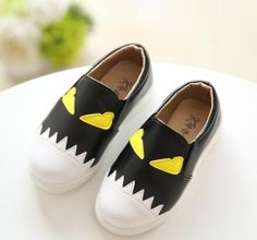 New 2016 spring and autumn kids shoes baby girls and boys PU leather shoes children casual monster design shoes 006 alishoppbrasil