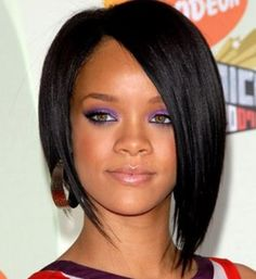 Rihanna short bob hairstyle