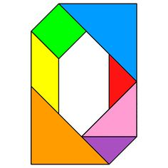 Tangram Letter O - Tangram solution #126 - Providing teachers and pupils with tangram puzzle activities