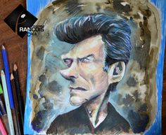 Caricature Clint Eastwood