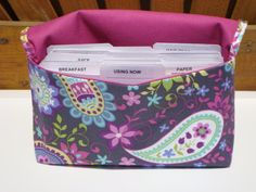 Coupon Organizer / Budget Organizer Holder  - Attaches to Your Shopping Cart - Gray Paisley Spree -  Michael Miller. $15.30, via Etsy.