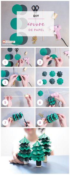 Que tal aprender a fazer delicadas árvores de papel, para você finalizar o décor de um jeito muito especial? Confira!