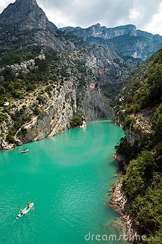 Gorge Du Verdon/ Provence France  BEAUTIFUL....... We rented boats here