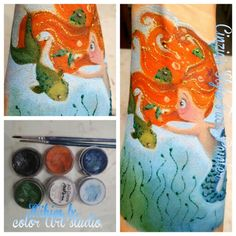 # sirena #face painting # truccabimbi