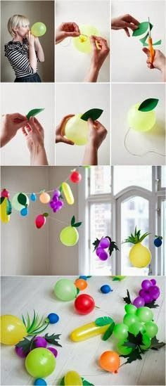 decorating with balloons no helium - Google Search