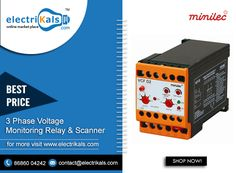 #Minilec 3- Phase Monitoring Relay-VCF D2-DIN Rail Mounted @ electrikals.com #Relays #4WireUnderandOverVoltageRelayDINRailMounted #OnlineShopping