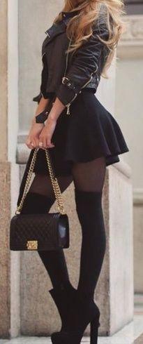 fall outfit ideas / all black everything