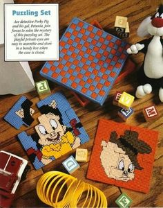Looney Tunes puzzles with box