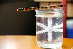 Make snowflakes with pipe cleaners and Borax!