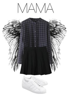 """""""BTS Wings: MAMA"""" by kookiechu ❤ liked on Polyvore featuring WithChic and adidas Originals"""