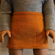 18 Inch Doll, Herringbone, American Girl, Doll Clothes, Sequin Skirt, 500 Followers, Doll Stuff, Orange, Skirts