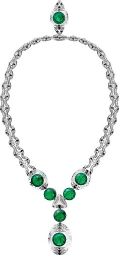 Cartier Magnitude Collection necklace set with seven Colombian emeralds totalling carats, diamonds, onyx, and rock crystal Cartier Jewelry, Emerald Jewelry, High Jewelry, Cartier Necklace, Simple Necklace, Necklace Set, Fashion Necklace, Fashion Jewelry, Luxury Engagement Rings