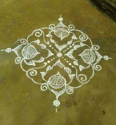 Nisha's kolam Rangoli Designs With Dots, Beautiful Rangoli Designs, Simple Designs, Places, Art, Lugares