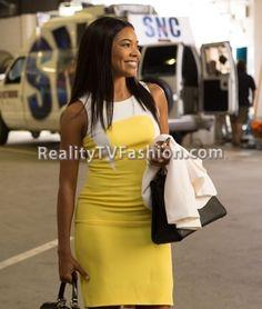 Mary Jane Paul's Yellow & White Colorblock Dress #BeingMaryJane