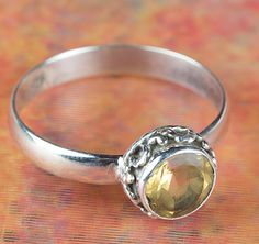 Citrine Jewellery – Wonderful Silver Faceted Citrine Ring BJR-399-CTC – a unique…