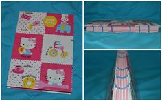 Hello Kitty theme - coptic stich journals made from colorful paper