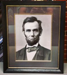 Rare photograph of President Abraham Lincoln framed with @larsonjuhl's line, conservation glass, acid-free matting and Dresden fillet! #pictureframing #customframing #denver #colorado #photography #abelincoln