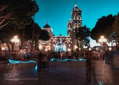 Zocalo de Puebla at night Mexico by maxrastello Macbook Pro 13 Case, Chula, Romantic Places, City Architecture, Stunning View, Cathedral, Amazing, Travel, Life