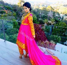 #pink #afghani #style #dress