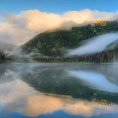 Alaska morning fog