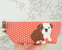Cute bulldog clutch bag. @chris blankenship