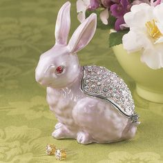 Bejeweled Pink Bunny Box