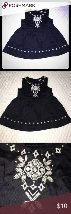 A little black dress Beautiful black and white dress. Free stain, smoke and pet Carter's Dresses Casual