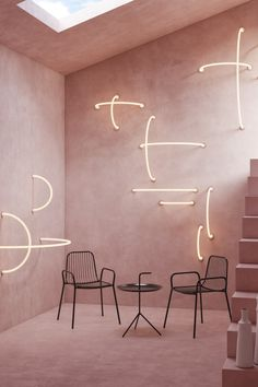 Home Interior Loft Create stunning wall or ceiling installations with our Link Sconces. Available in a range of sizes and finishes. Cafe Interior, Interior Exterior, Interior Design, Interior Lighting, Lighting Design, Blitz Design, Ceiling Installation, Art Installations, Concrete Building