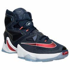 Nike Men s Lebron XIII Basketball Shoes 807219 461 Midnight Navy Red White  Sz 16 fab3e90ab