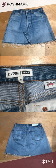 Re/done Levi's skirt size 26 Perfect condition re/done Levi's denim mini skirt size 26 Re/Done Skirts Mini