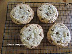 The Country Cook: Classic Chocolate Chip Cookies