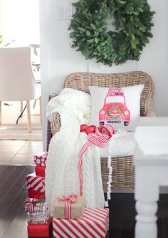 Hello again friends. I& honoured you& dropped by as I join some of my friends in The Cherished Christmas Home Tours with Country Living Magazine. This tour is being hosted by my dear friend Ashl. Christmas Pillow, Cozy Christmas, Holiday Fun, Christmas Holidays, Christmas Wreaths, Christmas Decorations, Holiday Decor, Christmas Morning, Christmas Recipes