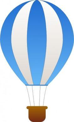 Maidis Vertical Striped Hot Air Balloons clip art