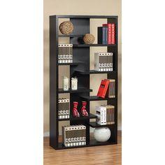 Hokku Designs Gardner Eight-Shelves Bookcase / Display Cabinet in ...