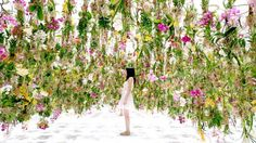 Floating Flower Garden par teamLab