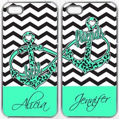 Best Friends Anchor iPhone 4 personalized custom Case - TWO Case Set + Gift Best Friend Cases, Bff Cases, Friends Phone Case, Cute Cases, Cute Phone Cases, Best Friends, Phone Cases Samsung Galaxy, Iphone 6 Cases, Iphone 4s