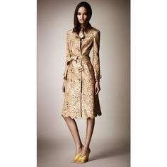 Burberry Laser-Cut Leather Trench Coat ($8,000) ❤ liked on Polyvore