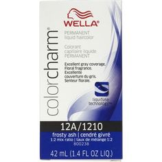 Wella Color Charm Liquid Permanent Hair Color 1210/12A Frosty Ash