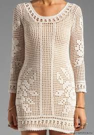 Resultado de imagen para tejidos de vestidos a crochet en negro
