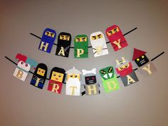 Handmade Ninjago inspired birthday banner by Craftophologie, $45.00