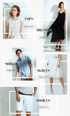NET線上購物網站設計-NET fashion website design on Behance Newsletter Design Templates, Template Web, Email Newsletter Design, Newsletter Layout, Design Net, Web Design Tips, Ad Design, Exhibit Design, Booth Design