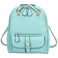 Tinksky® New Arrival Dual Use Korean Fashion Trends Leather Backpack One Shoulder Bag 17 Colors Optional (Lake Blue)