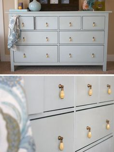 Hemnes dresser is one more precious find from IKEA that can be easily adapted to almost any interior. Ikea Hemnes Dresser, Ikea, Home Accessories, Drawers, Diy Furniture, Ikea Hemnes, Dresser Decor, Dresser Redo, Dresser Drawers