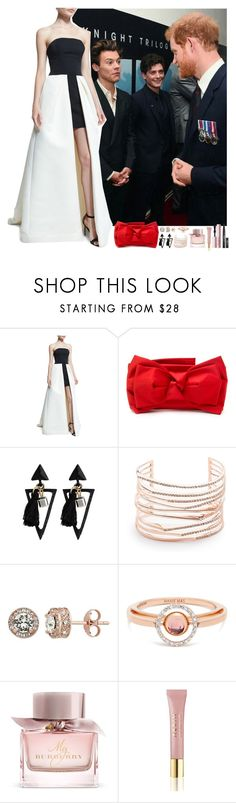 """Harry Styles #164"" by ambere3love34 ❤ liked on Polyvore featuring Halston Heritage, RED Valentino, Alexis Bittar, Diamond Splendor, Marie Mas, Burberry, AERIN and Too Faced Cosmetics"