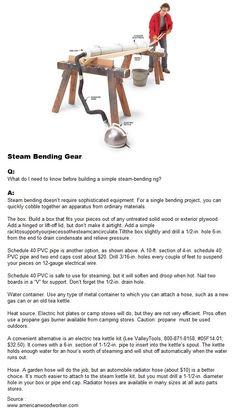 Steam Bending Gear | WoodworkerZ.com