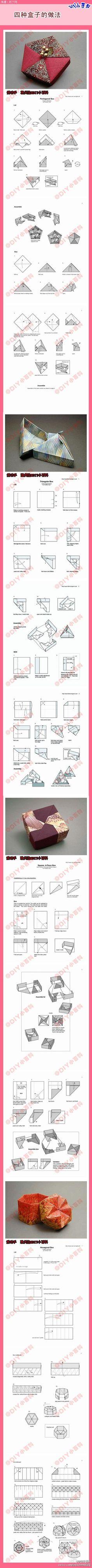 Modular Origami Boxen - gefunden auf duitang.com